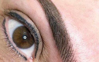 Maquillage permanent des sourcils en microshading proche Montpellier.
